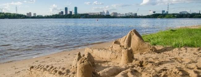 Пляж на Шелепихинской набережной
